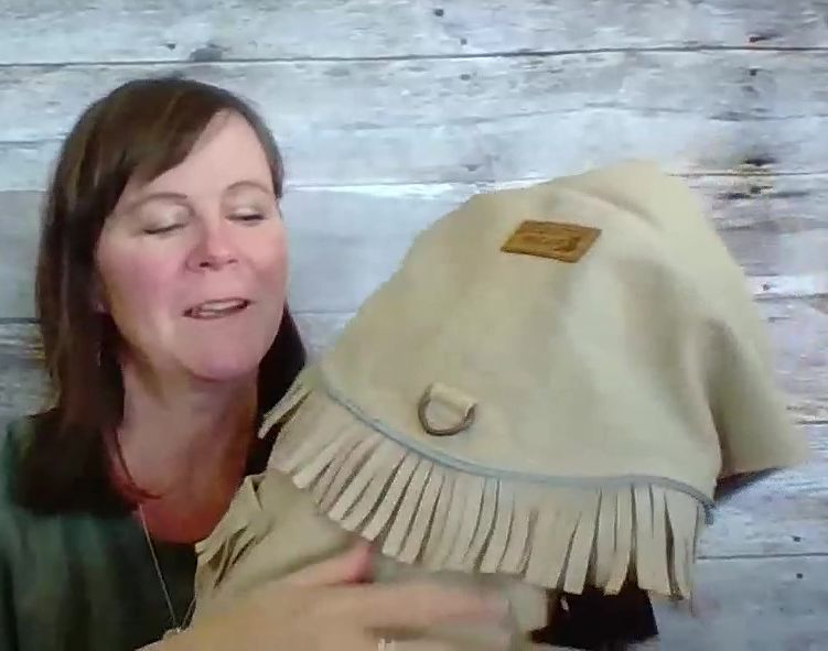 Fringed suede water resistant dog jacket
