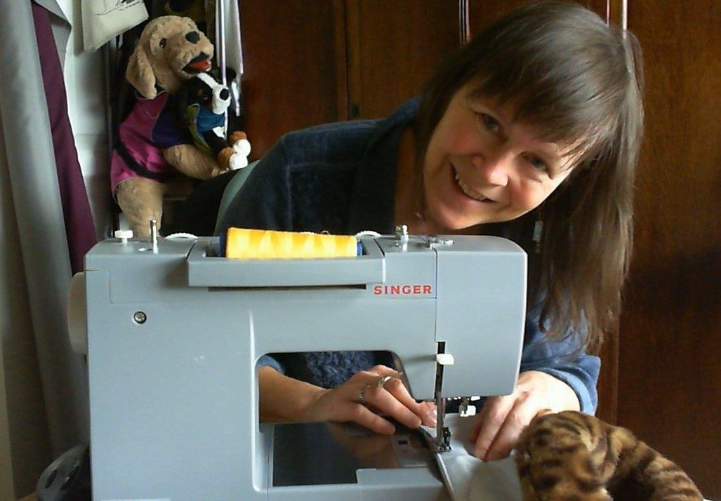 Jill Bartlett sewing water resistant dog coats